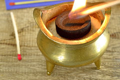 Chinese incense pot Stock Photos