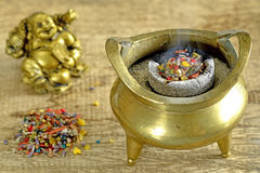 Chinese incense pot Stock Photo