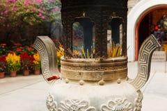 Chinese incense pot Stock Photos
