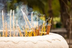 Chinese incense pot Stock Images