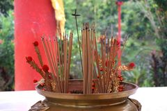 Chinese incense stick Royalty Free Stock Photo