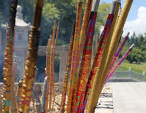 Chinese incense sticks in the temple royalty free stock photography