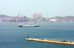 Chinese industrial cargo port Stock Images