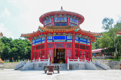 Chinese pagoda. Chinese traditional pagoda in the forest,which represent Exorcise evil spirits and lucky Royalty Free Stock Photos