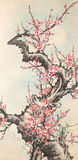 Chinese Ink Painting. Of blossom flower Stock Image