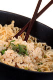 Chinese instant noodle with minced pork Royalty Free Stock Photos