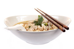 Chinese instant noodle with minced pork bowl isola. Ted on white background Stock Images