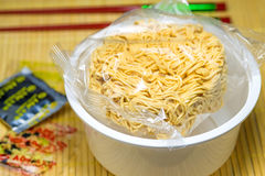 Chinese instant noodle soup Royalty Free Stock Photo