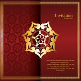 Chinese invitation card. Vector design Stock Photography