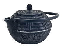 Chinese iron black traditional teapot Stock Image
