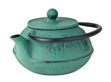 Chinese iron green traditional teapot Royalty Free Stock Images