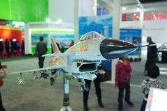 Chinese j-10(f-10) Jet Fighter model.  Royalty Free Stock Photo