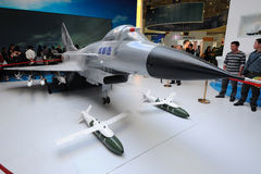 Chinese j-10(f-10) Jet Fighter model Royalty Free Stock Photography