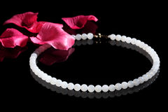 Chinese jade necklace Stock Images