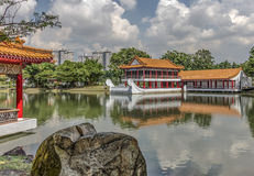 Chinese and Japanese Gardens. Boathouse in Chinese and Japanese Gardens, Singapore Royalty Free Stock Photos