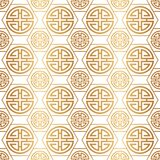 Chinese and Japanese style. Traditional seamless pattern. Gold Asian background. China ornament. Elegant Japan design golden foil