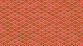 Chinese and Japanese wave seamless wallpaper royalty free illustration