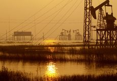 Chinese Jiangsu Province oil field  Stock Photos