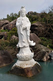 Chinese Jiuhoushan Guanyin statue Stock Images