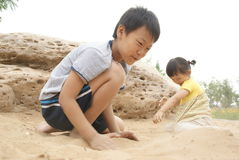 Chinese jonge geitjes Royalty-vrije Stock Fotografie