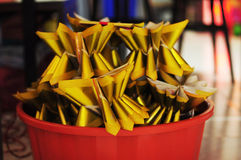 Chinese Joss paper / Gold and silver paper in Chinese culture Royalty Free Stock Images