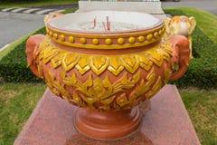 Chinese joss stick pot Stock Image