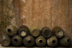 Chinese Jugs Royalty Free Stock Photography