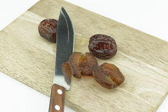 Chinese jujube with boiled syrup until dry stock photography