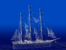 Chinese Junk in ocean Stock Photography