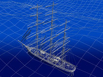 Chinese Junk in ocean Stock Images