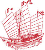 Chinese Junk. An old asian style junk or ship Royalty Free Stock Images