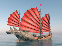 Chinese junk ship Royalty Free Stock Photography