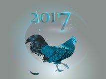 Chinese kalender Jaar van de Haan 2017 Stock Foto