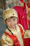 Chinese kid with traditional costume Stock Photo