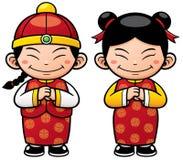 Chinese Kids vector illustration