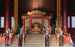 Chinese King's throne Stock Photos