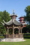 Chinese kiosk at the Museums of the Far East, Brussels Stock Photo