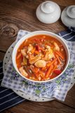 Chinese kip met groenten Stock Foto's