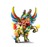 Chinese Kirin. Kirin(Qilin) is the ancient Chinese myths and legends of mythical monsters, Mild, not to hurt people and animals, do not trample plants, so called Royalty Free Stock Image