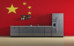 Chinese kitchen Stock Photography