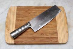 Chinese kitchen knife Stock Photo