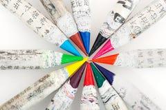 Chinese kleurenpotloden Royalty-vrije Stock Foto's