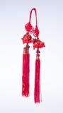 Chinese knoop of Gelukkige knoop voor Chinese nieuwe jaardecoratie op bedelaars Royalty-vrije Stock Foto