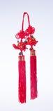 Chinese knoop of Gelukkige knoop voor Chinese nieuwe jaardecoratie op bedelaars Stock Afbeeldingen