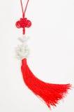 Chinese knoop met jade Royalty-vrije Stock Afbeeldingen