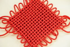 Chinese knot. Traditional red color chinese knot Stock Images