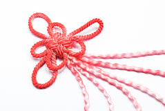 Chinese knot. Is an ancient Chinese invention strapping technology, and now  is still subject to a lot of people at home and abroad like the time when the Stock Image
