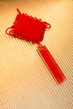 Chinese knot a good luck. Symbol royalty free stock photos