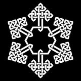 A Chinese knot stylized snowflake vector illustration Stock Images