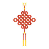 Chinese knot with tassel using in lunar new year Stock Photos